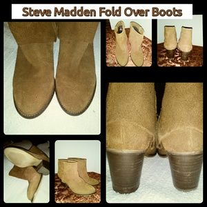 """Kravee"" Fold Over Cowboy Boot"